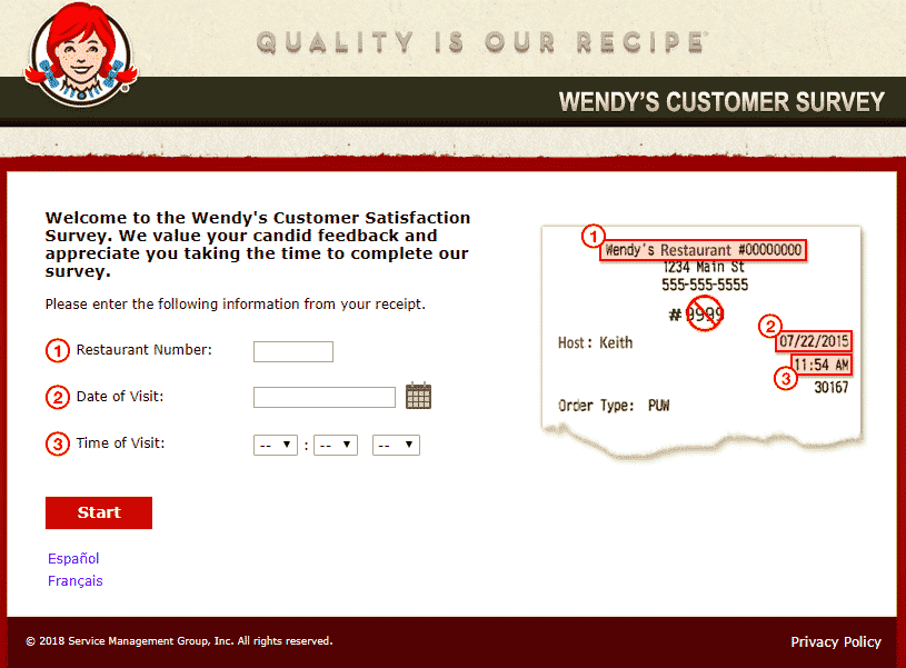 wendys survey