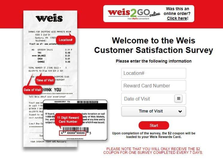 weis feedback survey