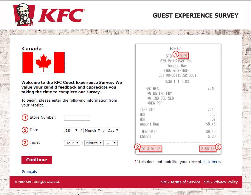 www.kfclistens.ca survey page