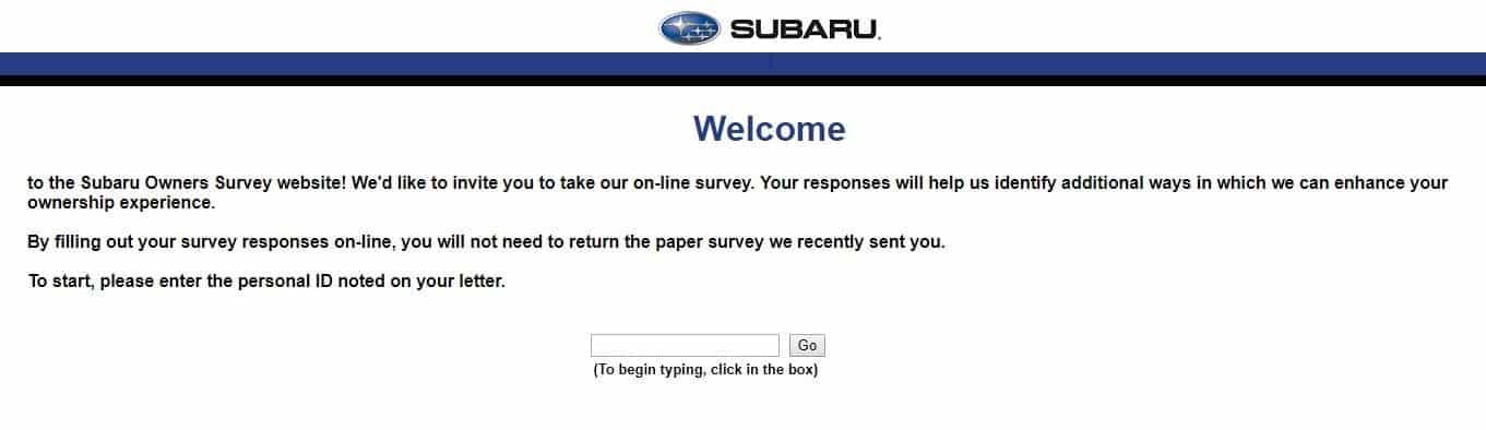 www.survey.subaru.com Guide