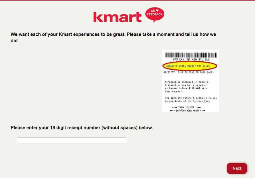 Kmartfeedback Process