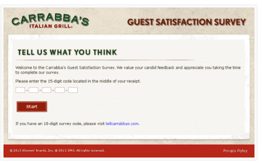 tell carrabba's