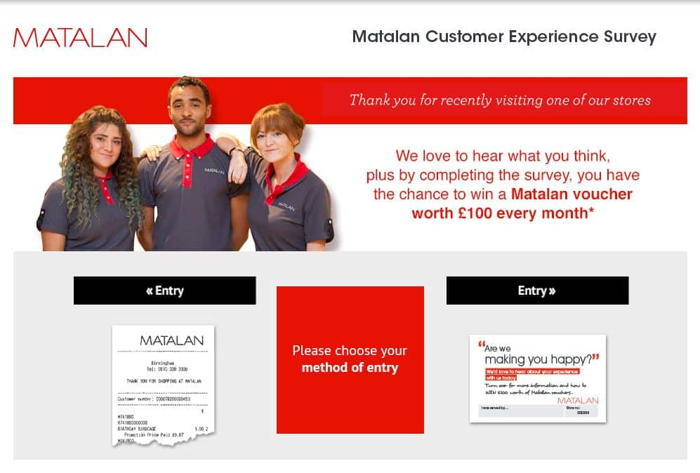 matalan-survey.co uk Page